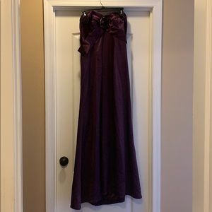 Elegant Plum Floor Length Dress